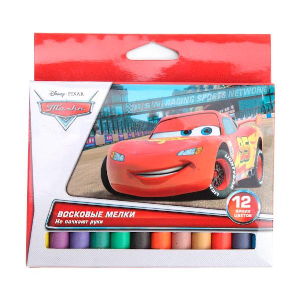 Набор восковых мелков Multiart Disney тачки 12 цветов Диаметр 11 миллиметров<br>