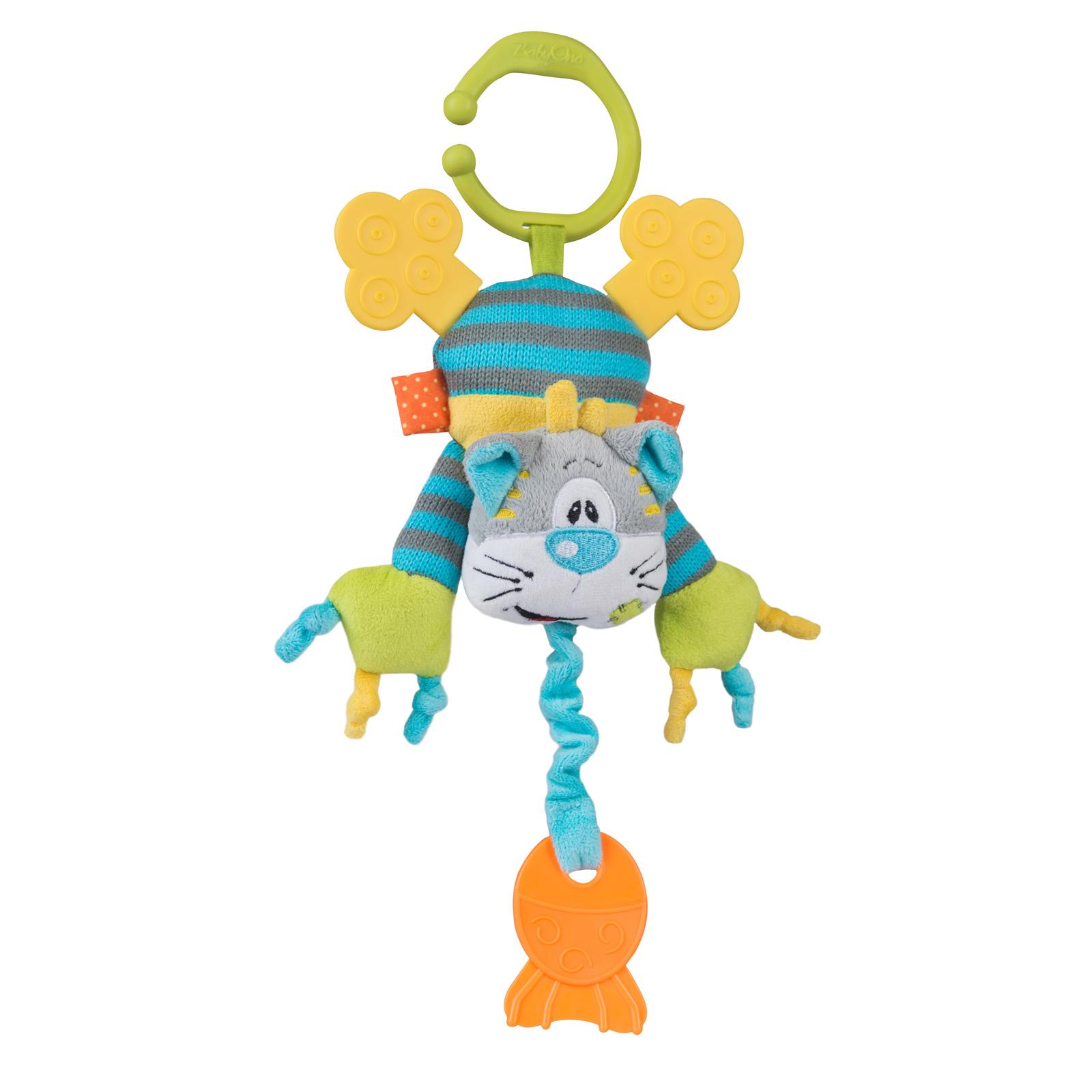 Игрушка-пищалка BabyOno Котик с прорезывателем<br>