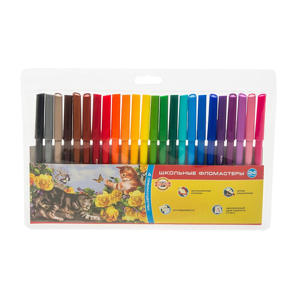 Фломастеры KOH-I-NOOR ДОМАШНИЕ ЖИВОТНЫЕ 24 цвета<br>