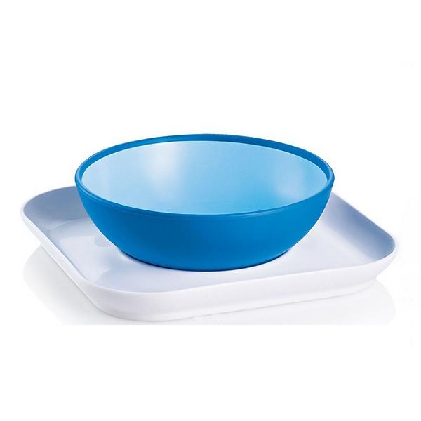 Тарелка MAM 2 шт (с 6 мес) голубая<br>