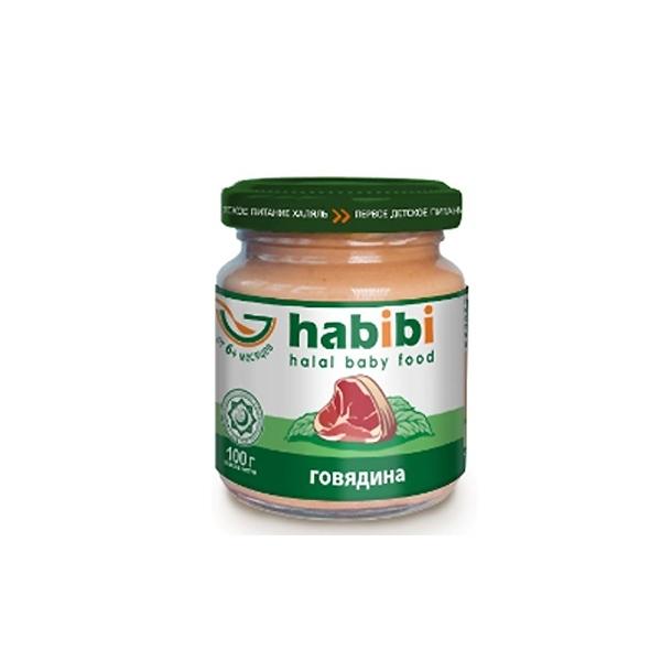 Пюре Habibi мясное 100 гр Говядина (с 6 мес)<br>
