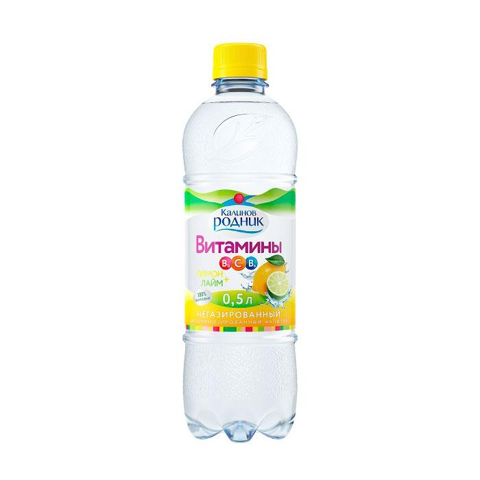 Вода Калинов Родник витаминизированная лайм  с лимоном 0,5л (с 5 лет)<br>
