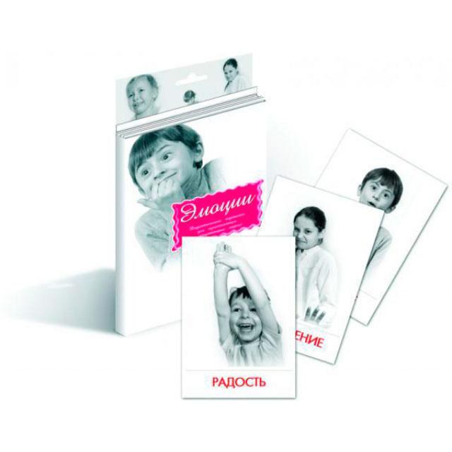 Дидактические карточки Маленький гений Эмоции<br>