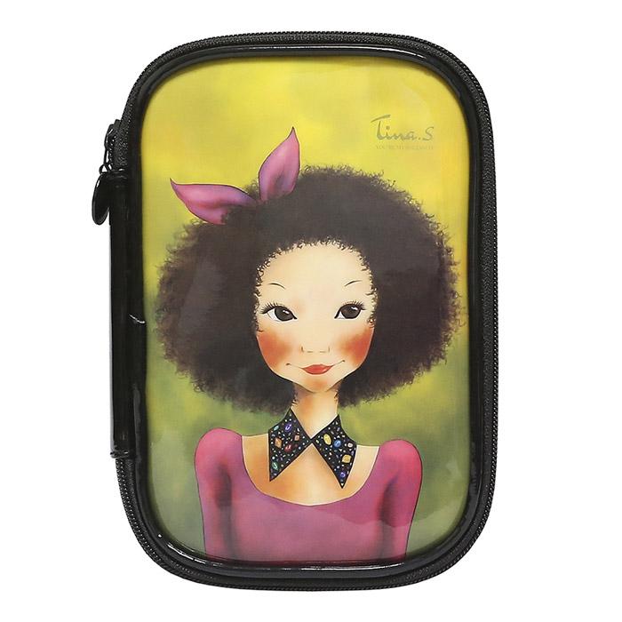 Косметичка Fascy BBOGEUL Tina Enamel Pouch (розовое платье)<br>