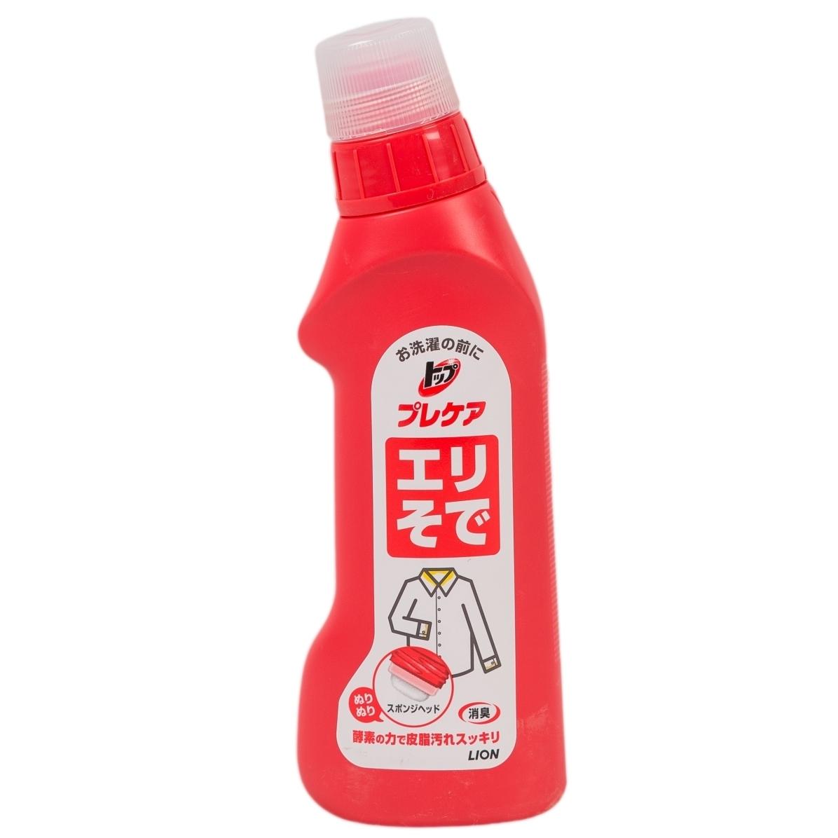 Жидкое средство для стирки Lion ТОР 250 мл. Для удаления пятен с воротничков и манжет<br>