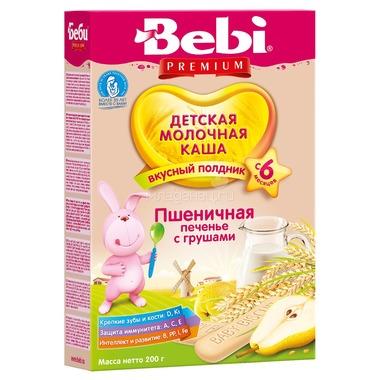 Каша Bebi Premium молочная 200 гр Для полдника пшеничная печенье с грушами (с 6 мес)