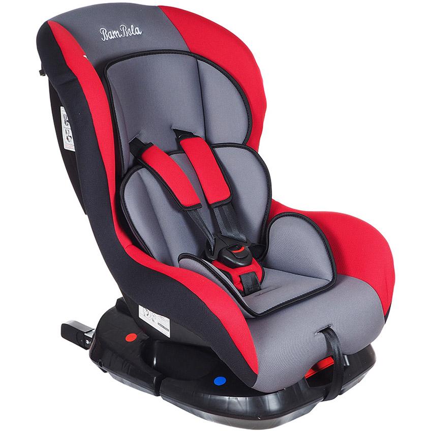 Автокресло Bambola Bambino IsoFix Серый с красным<br>