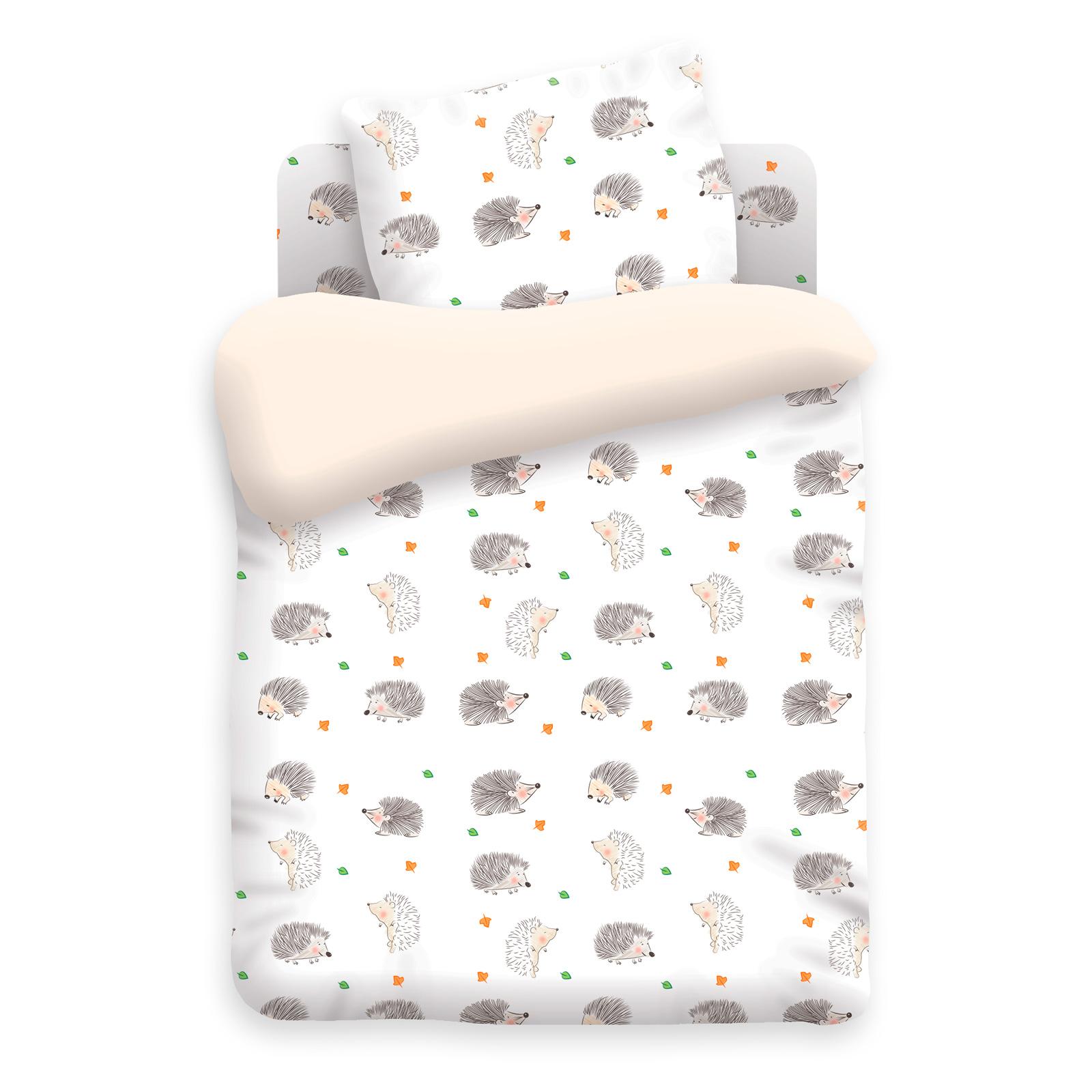 Комплект постельного белья детский бязь Непоседа Н/У на резинке Ёжики<br>