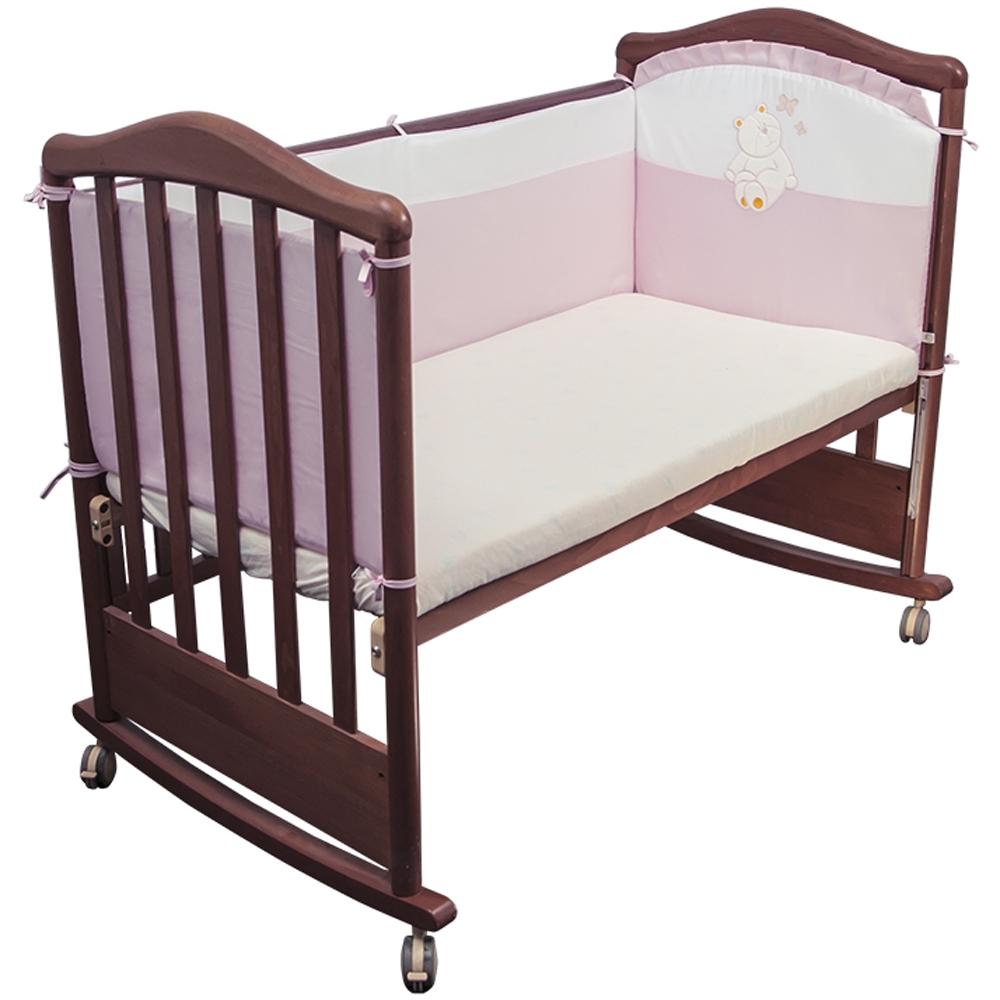 Борт в кроватку Сонный гномик Пушистик Розовый<br>
