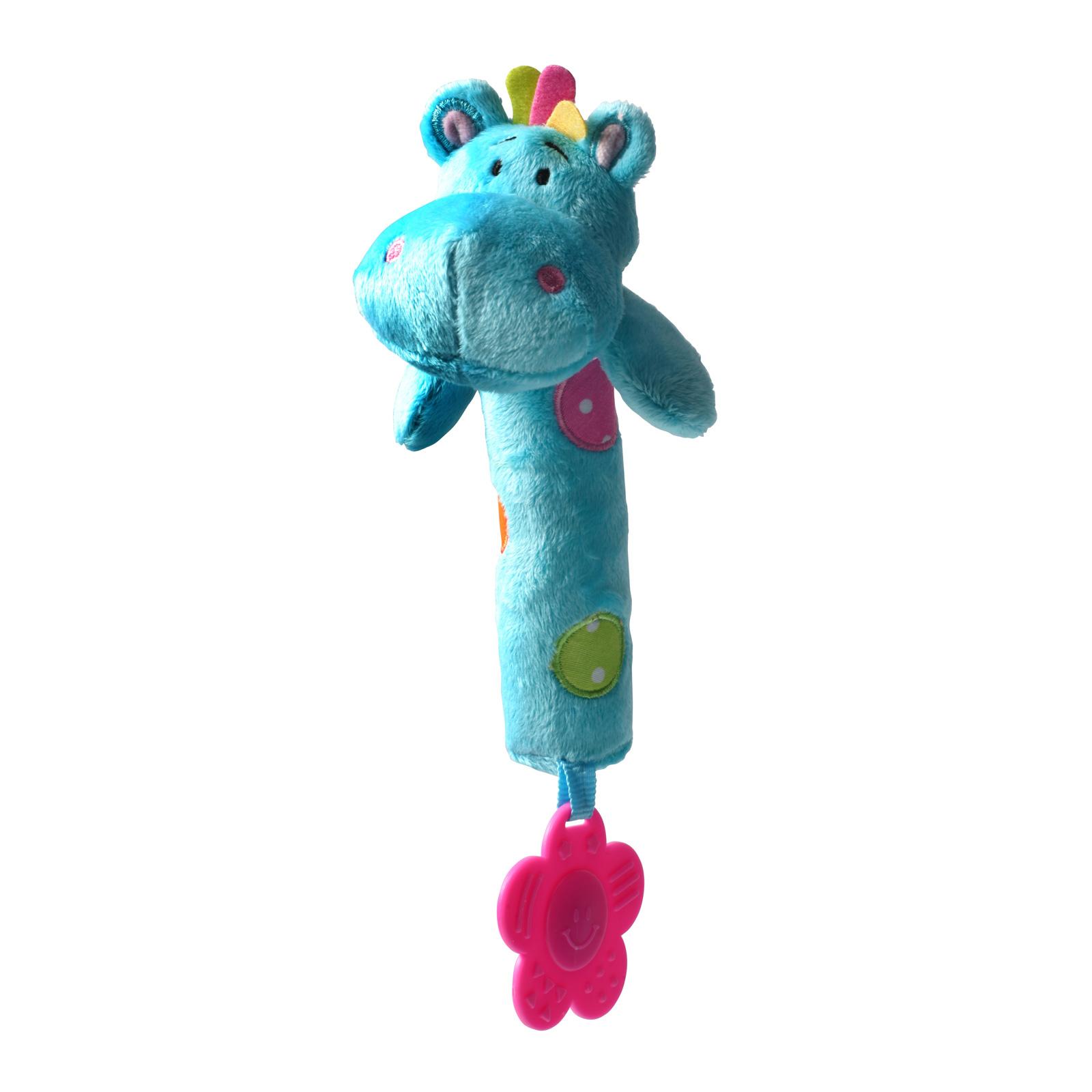 Игрушка-пищалка BabyOno Бегемотик с прорезывателем<br>