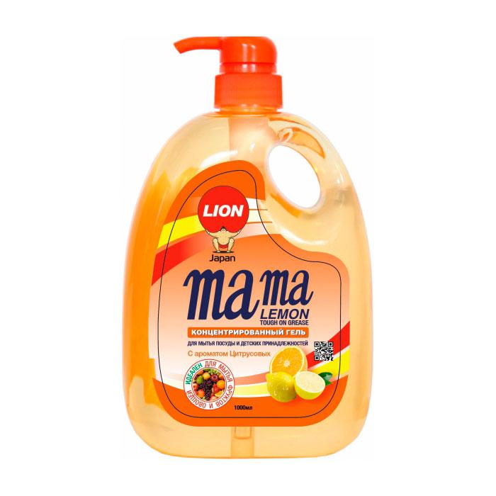 Средство для мытья посуды Lion Mama Lemon Антибактериальное с ароматом апельсина 1 л<br>