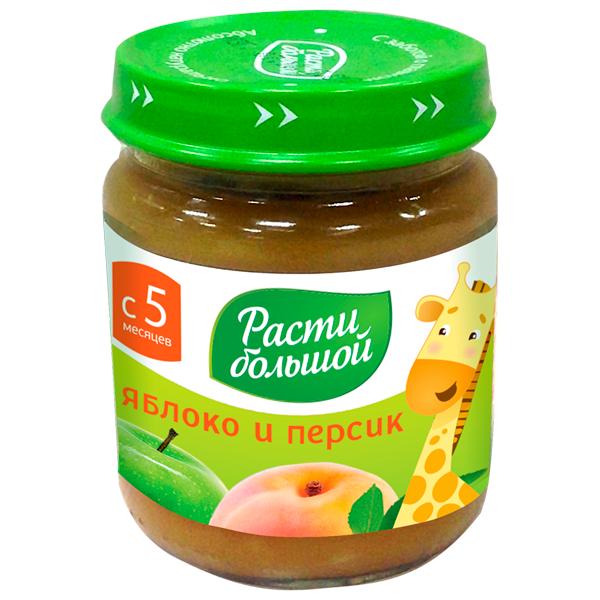 Пюре Расти Большой фруктовое 100 гр Яблоко и персик (с 5 мес)<br>