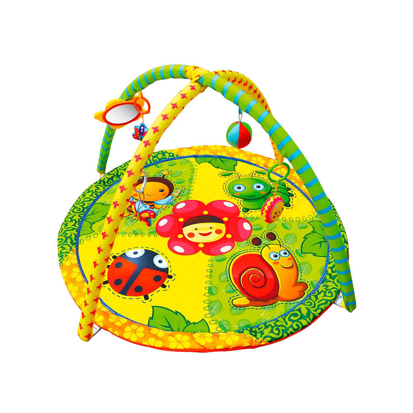 Развивающий коврик ToyMart с игрушками Весёлая полянка<br>