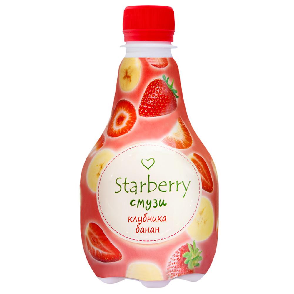 Смузи Starberry с пюре и соком 0,375л клубника и банан