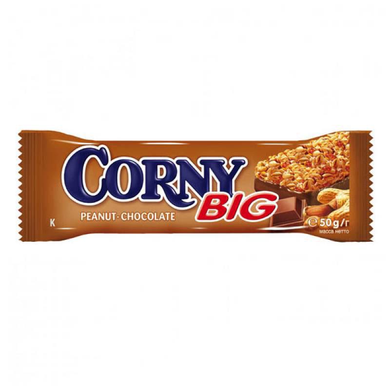 Батончик Schwartau Corny Big Злаковый 50 гр С арахисом и молочным шоколадом<br>