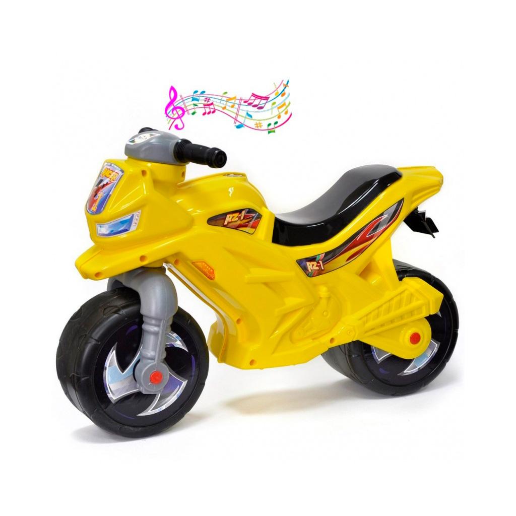 Каталка-беговел RT Racer RZ 1 ОР501в3 с музыкой Желтый<br>