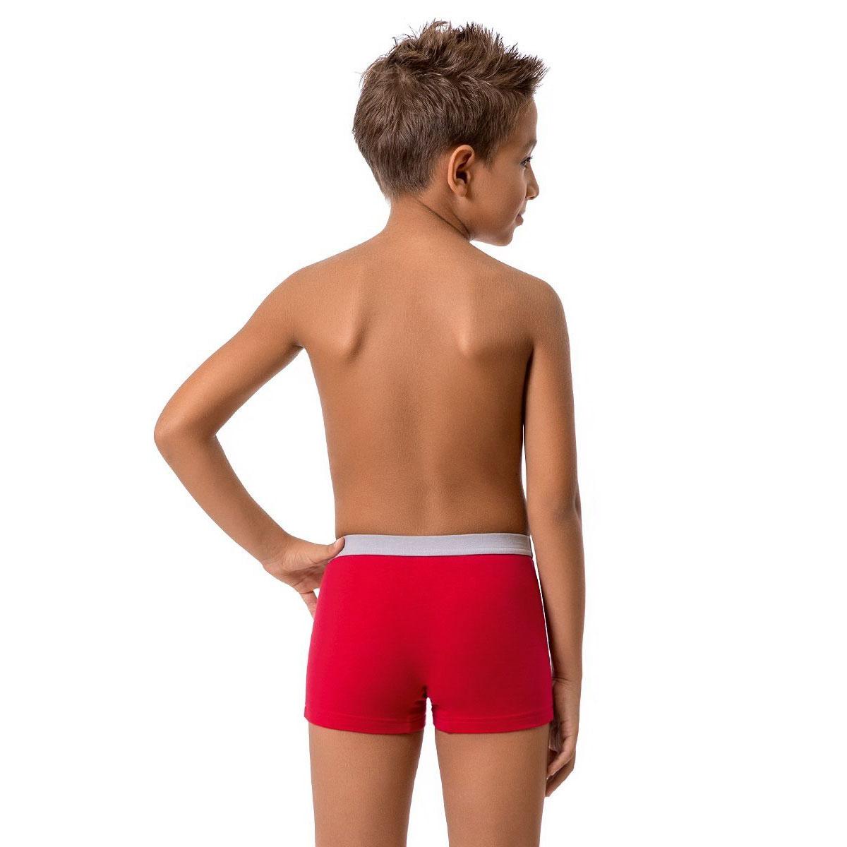 Трусы-боксеры для мальчиков Nirey Нирей цвет бордовый (принт) размер 92-98 см