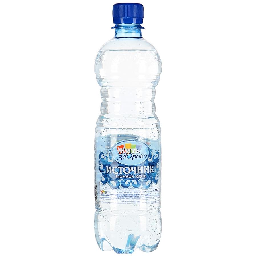 Вода питьевая Источник здоровой жизни Негазированная 0,6 л (пластик)<br>