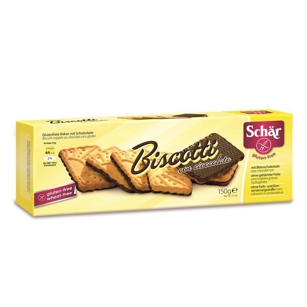 Печенье Dr. Schar С шоколадом Biscotti con cioccolato 150 гр<br>