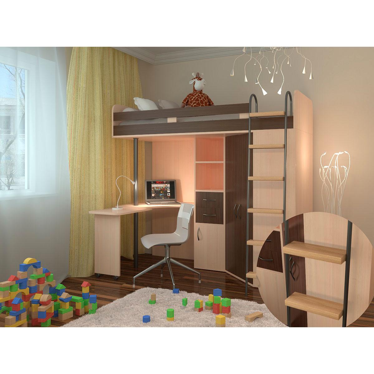 Набор мебели РВ-Мебель М85 Дуб молочный/Дуб шамони