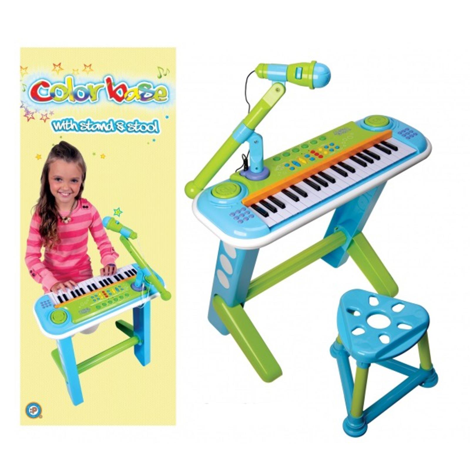 Музыкальный инструмент Potex Синтезатор с микрофоном и стулом, Color Base,37 клав.