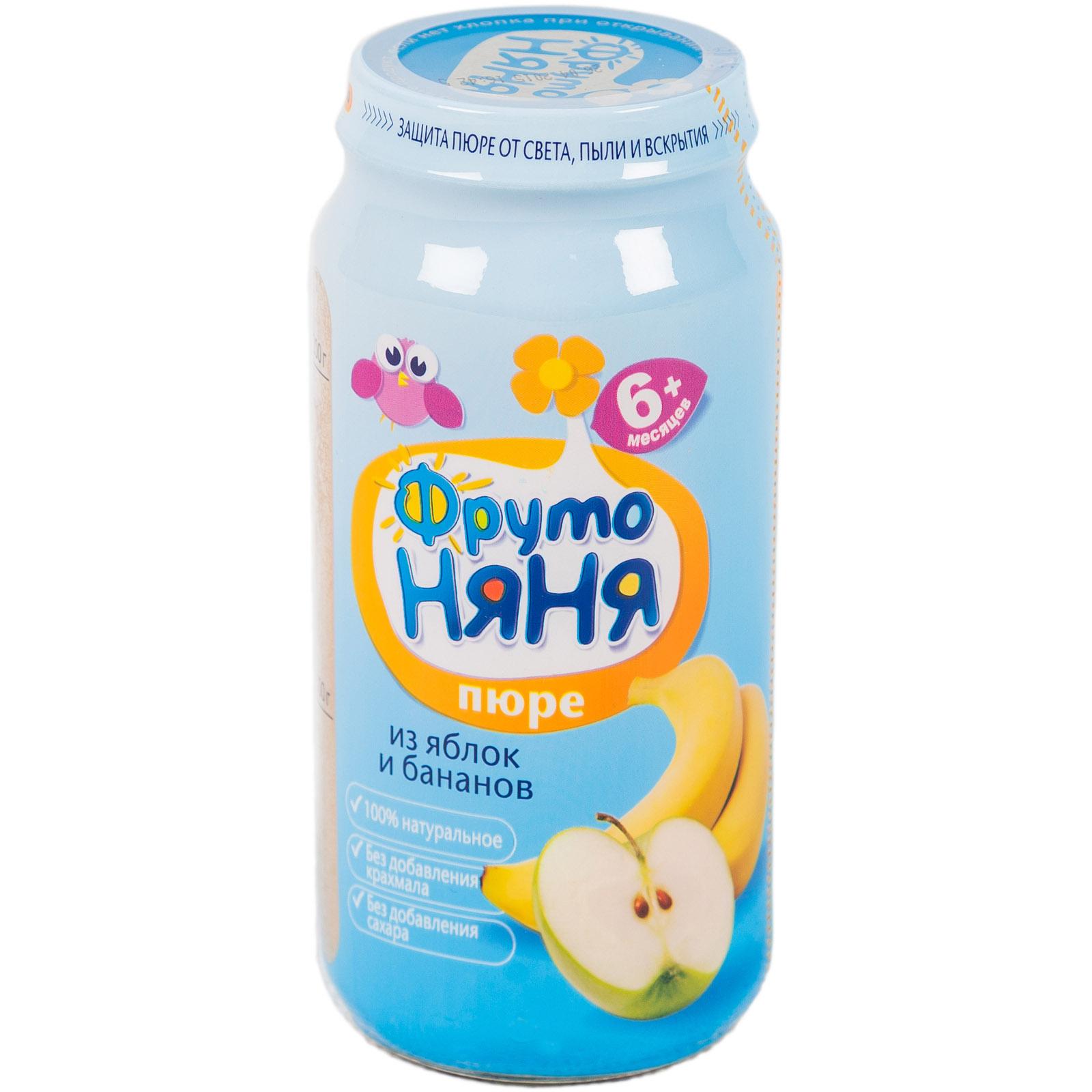 Пюре Фрутоняня фруктовое 250 гр Яблоко с бананом (с 6 мес)<br>