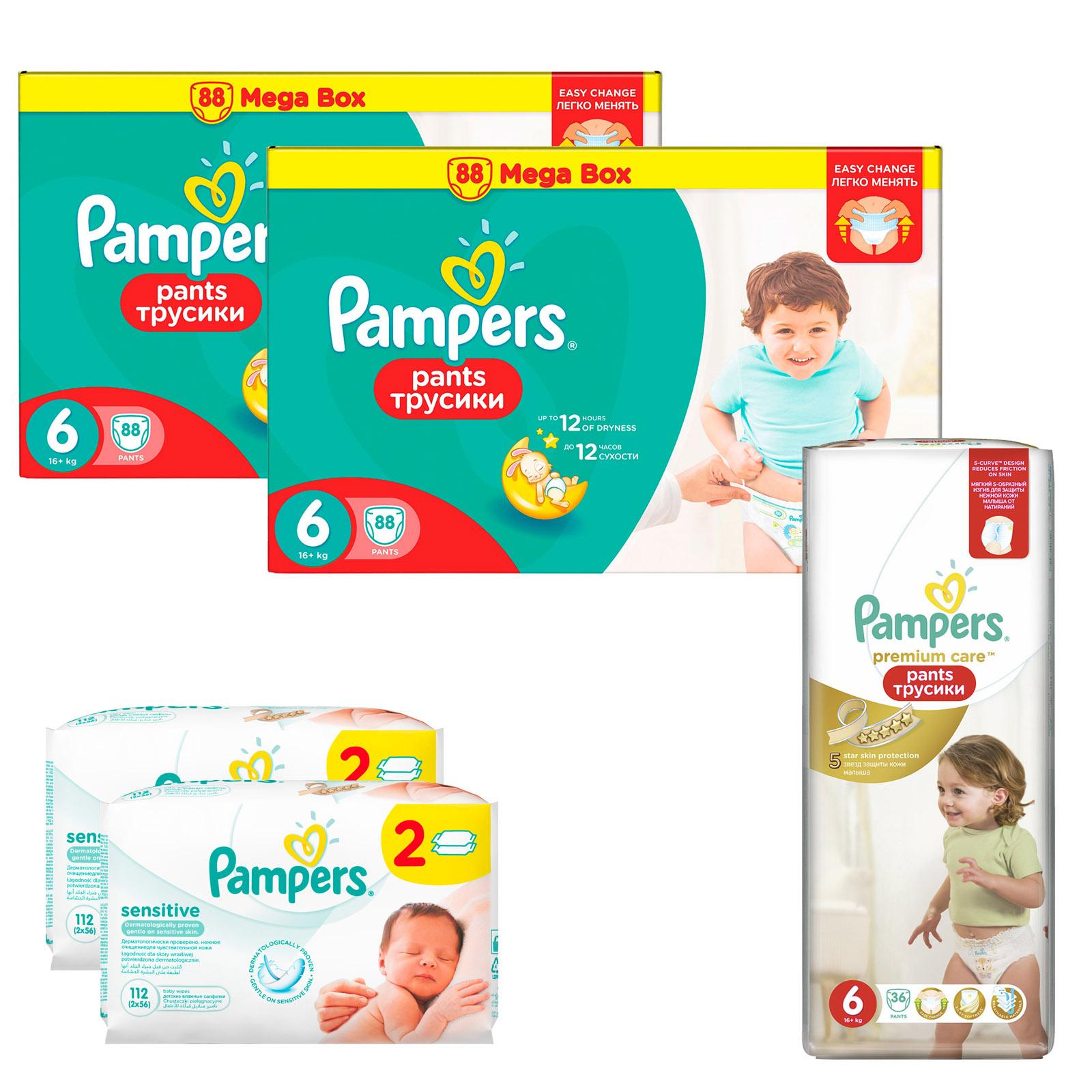 Набор Pampers № 11 Трусики Premium Care (6 размер)<br>
