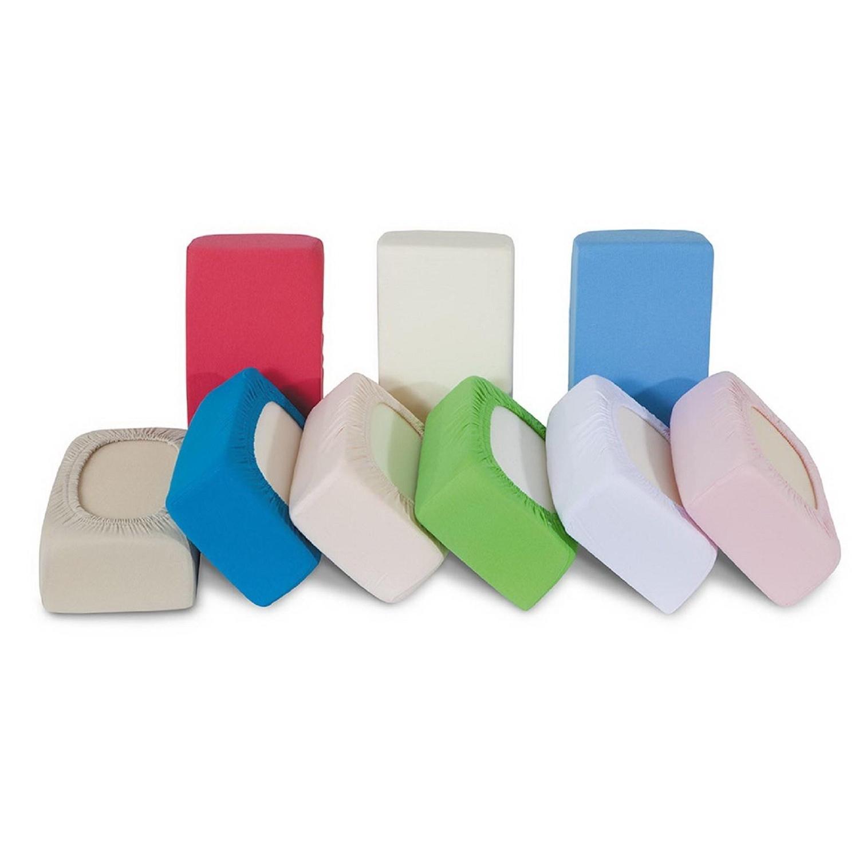 Комплект трикотажных простыней Ol-tex с резинкой В ассортименте (Голубой, Бледно-розовый, Светло-зеленый, Белый, Бежевый, Персик)<br>