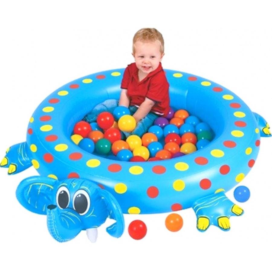 Сухой бассейн Upright надувной Слоненок + шары<br>