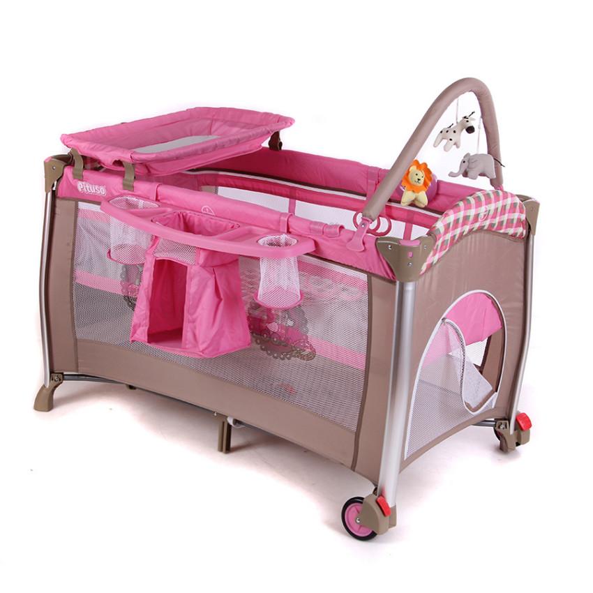 Манеж-кровать Pituso Flora Girls Toys<br>