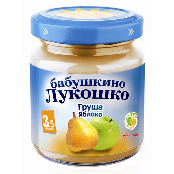 Пюре Бабушкино лукошко фруктовое 100 гр Груша с яблоком (с 5 мес)<br>
