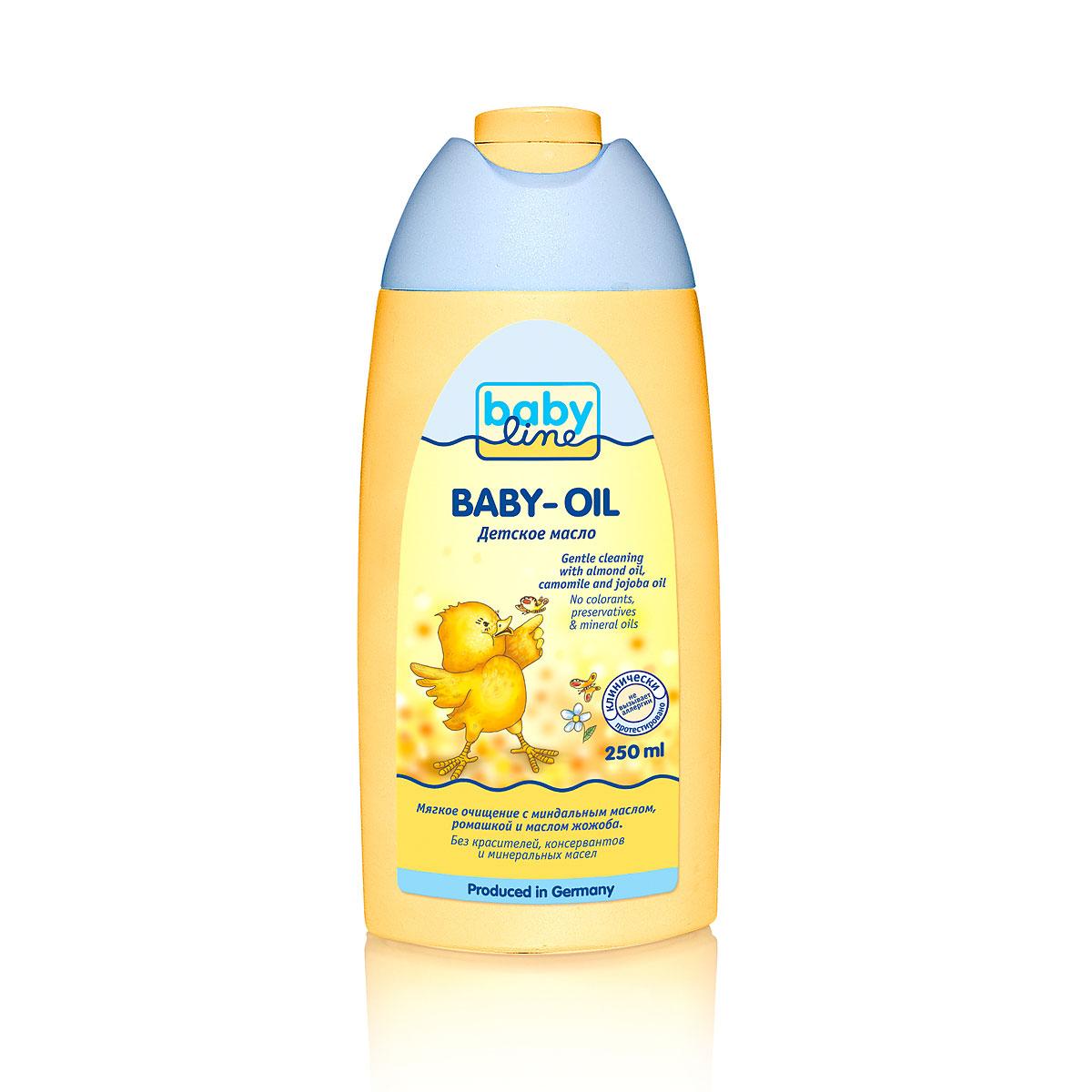 Масло Babyline очищающее 250 мл С ромашкой и маслом жожоба<br>