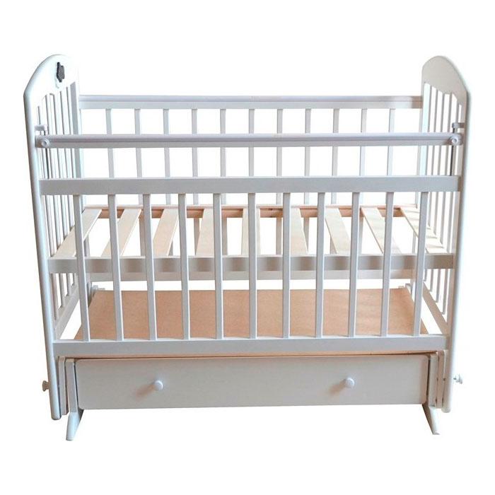 Кроватка Briciola 8 с поперечным маятником Белая<br>