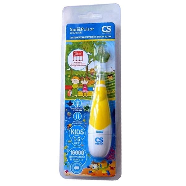 Зубная щетка электрическая звуковая CS Medica Kids SonicPulsar CS-561 Kids<br>