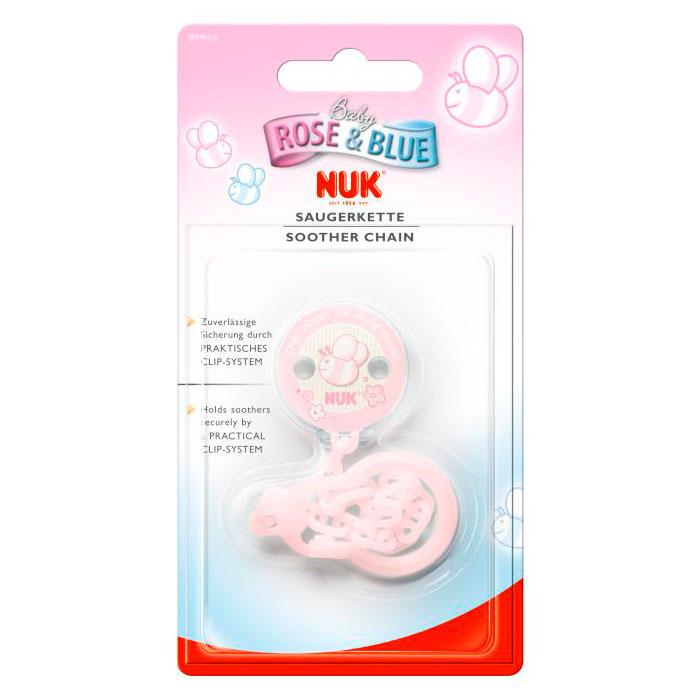 Прищепка Nuk для сосок и пустышек (с 0 мес) Baby Rose Розовая