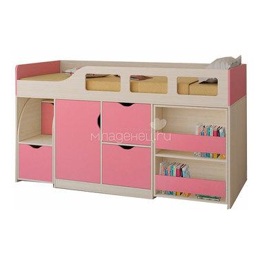 Набор мебели РВ-Мебель Астра 8 Дуб молочный/Розовый