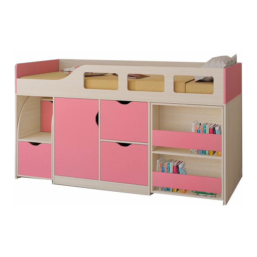 Набор мебели РВ-Мебель Астра 8 Дуб молочный/Розовый<br>