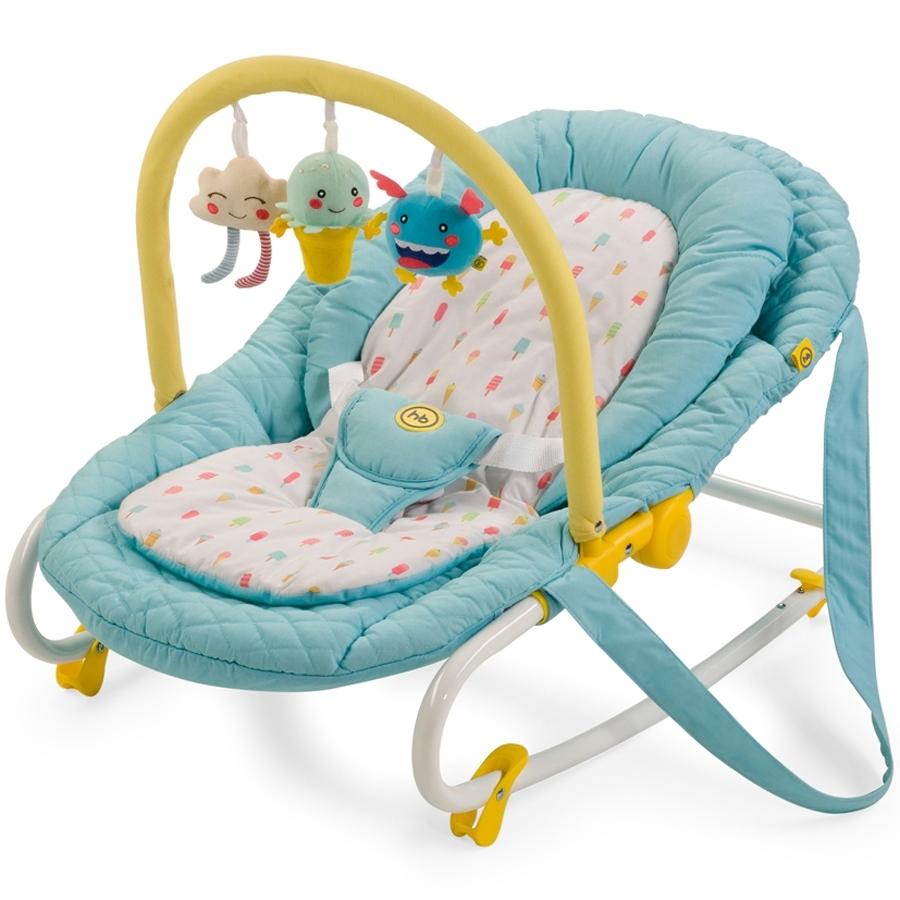 Шезлонг Happy Baby Nesty Голубой<br>