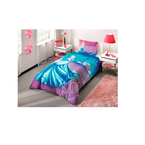 Комплект постельного белья ТАС 1.5 ранфорс Disney Princess Cindrella