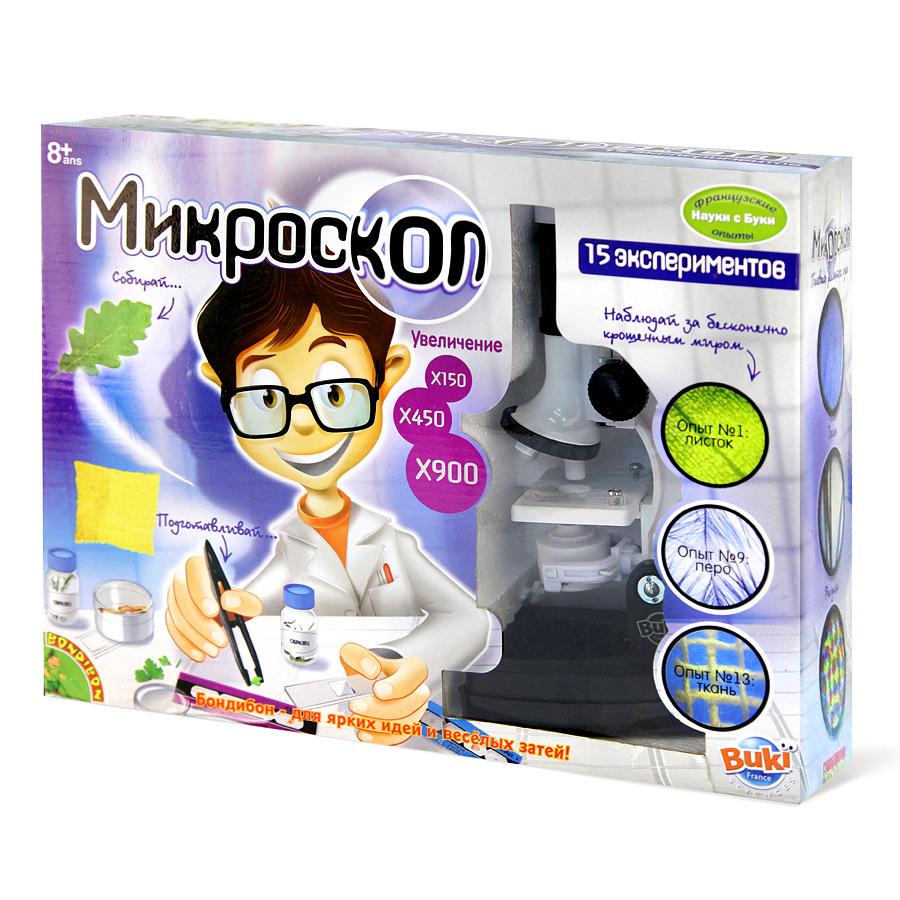 Французские опыты Науки с Буки BONDIBON Микроскоп (15 экспериментов)<br>