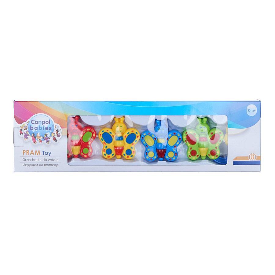 Погремушка Canpol Babies Canpol babies  Погремушка на коляску пластиковая Бабочки 2/727<br>
