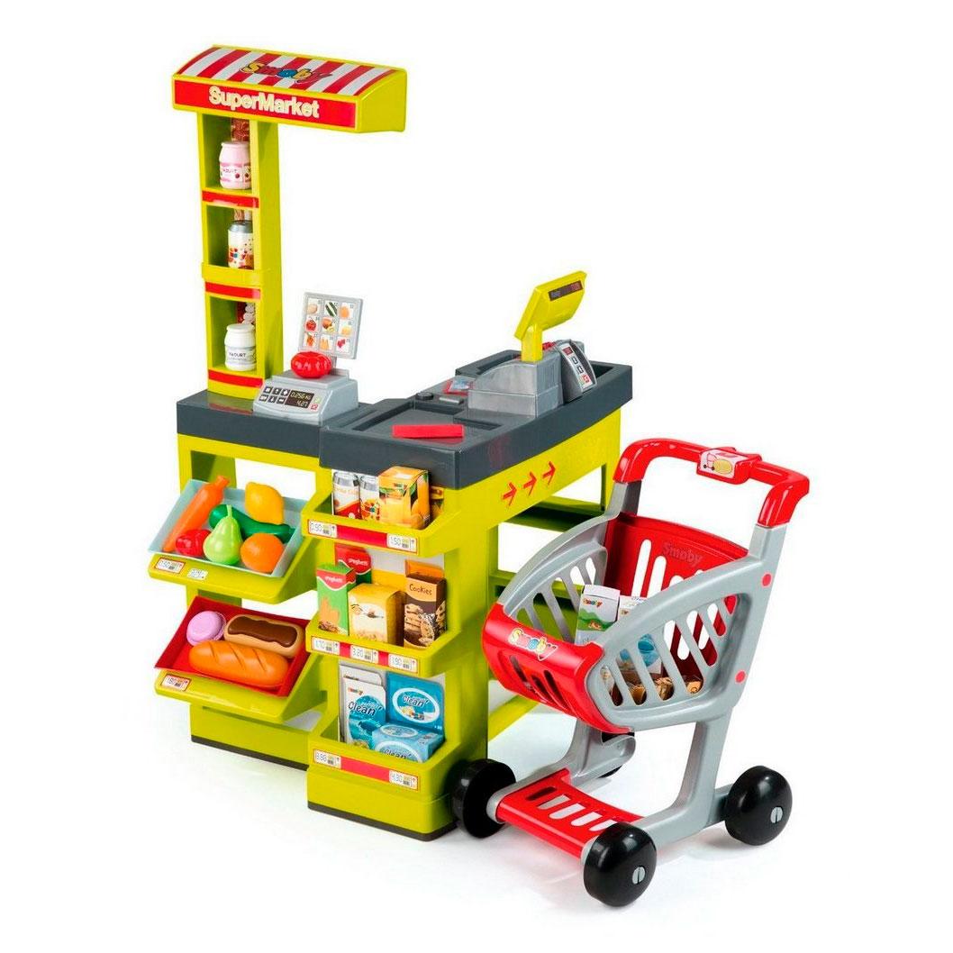 Супермаркет Smoby Зеленый с тележкой и звуком 350202<br>