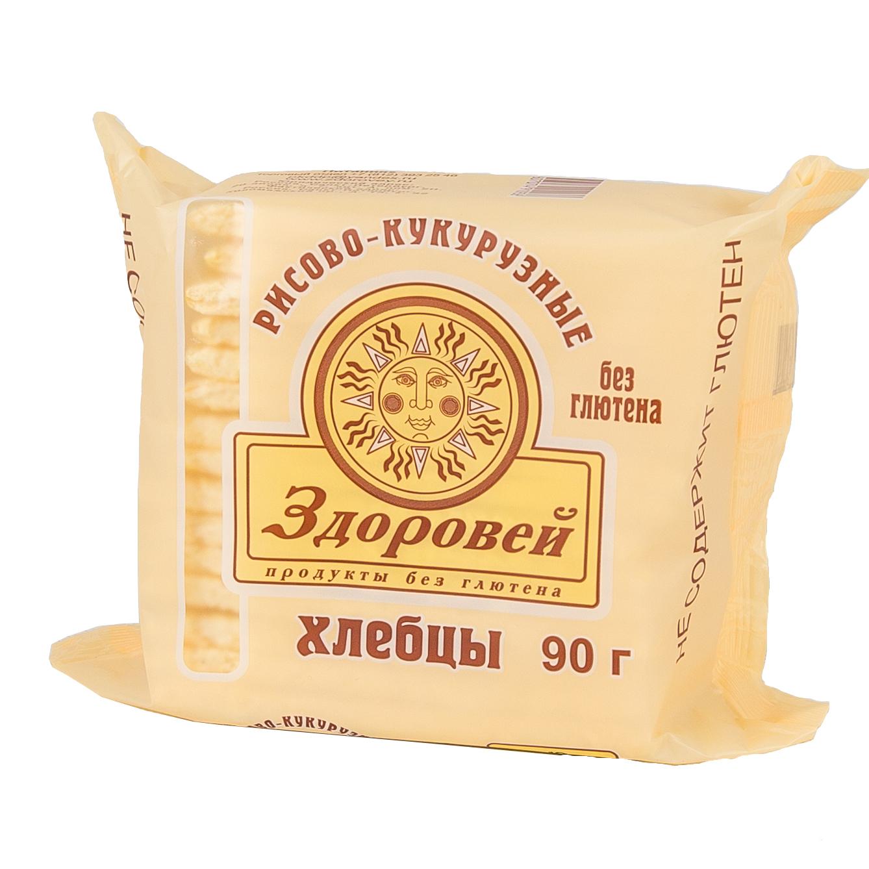 Хлебцы Здоровей без глютена 90 гр Рисовые с кукурузой<br>
