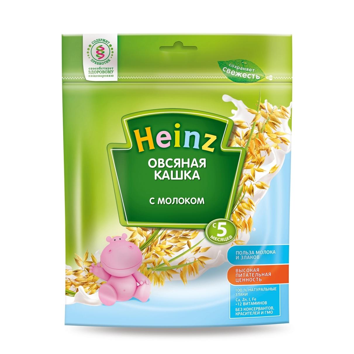 Каша Heinz молочная 250 гр Овсяная (с 5 мес)<br>