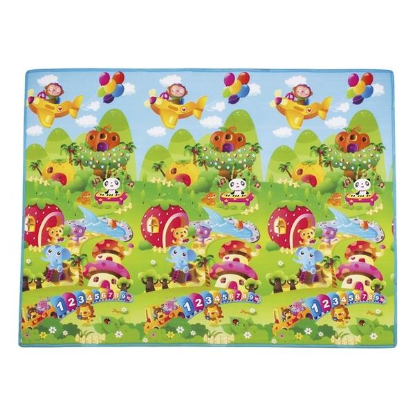 Детский развивающий коврик Mambobaby односторонний Волшебный зоопарк 200х180х0.5<br>