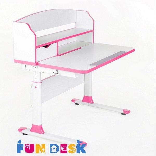 Парта-трансформер FunDesk Sentireс надстройкой Pink<br>