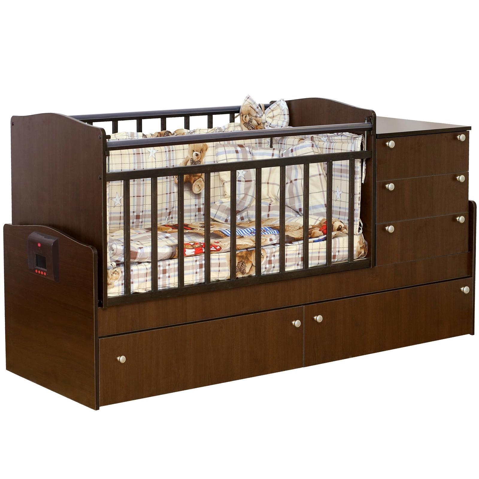 Кроватка-трансформер Daka Baby Укачай-ка 05 с механизмом Венге<br>