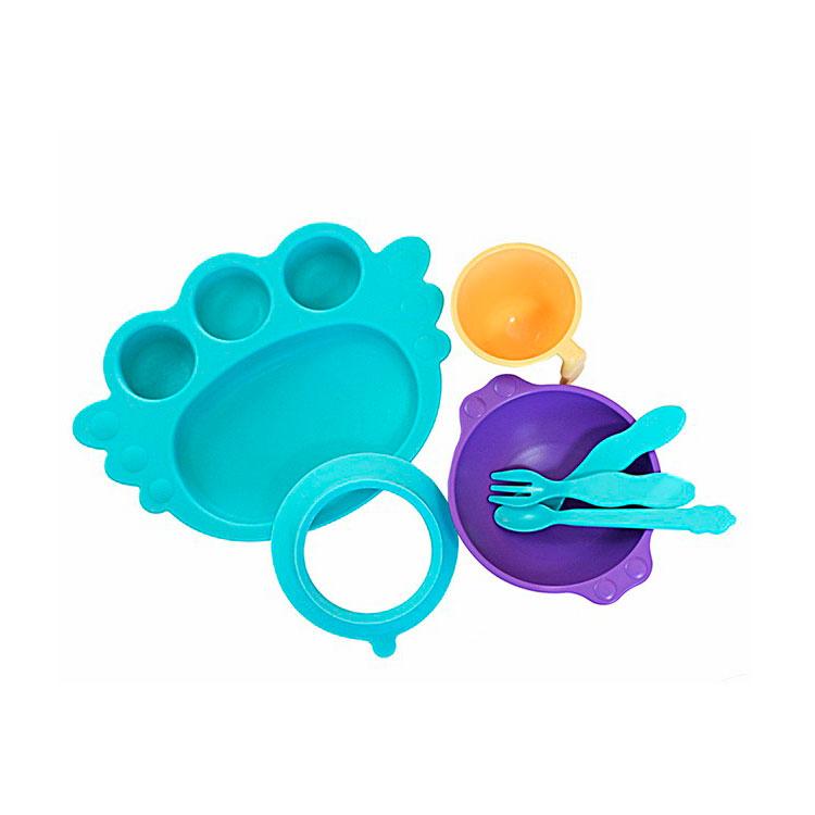Набор детской посуды UINLUI 7 предметов на присоске (бирюзовый)<br>