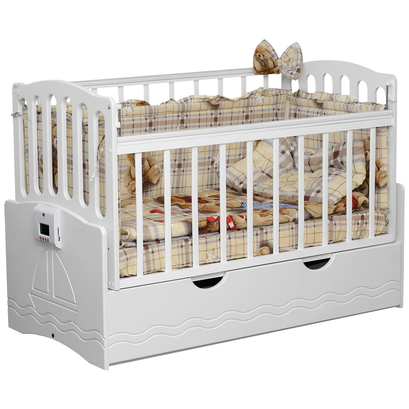 Кроватка Daka Baby Укачай-ка 03 автоматическая Белый<br>