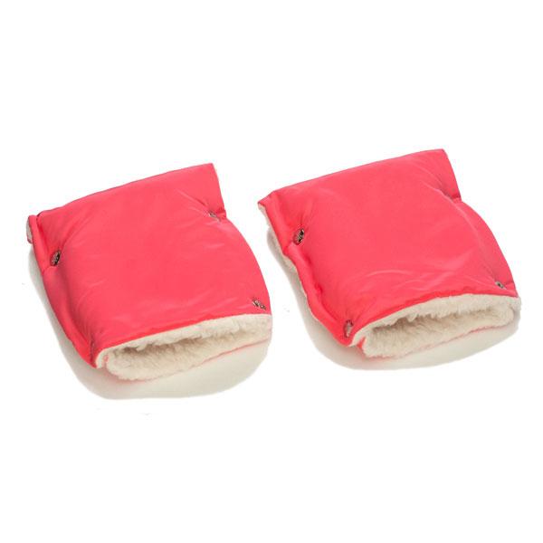 Муфты-рукавички Чудо-Чадо меховые Коралловый<br>